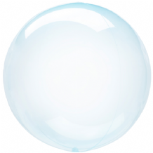 "Crystal Clearz Balloon - Blue Crystal Clearz (18"") 1pc"